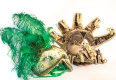 威尼斯狂欢节的面具 免版税库存图片