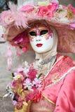 威尼斯狂欢节被掩没的模型 库存照片