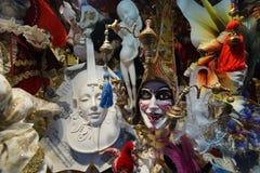 威尼斯狂欢节面具商店 免版税库存图片