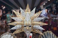 威尼斯狂欢节面具商店 图库摄影