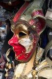 威尼斯狂欢节面具待售 免版税图库摄影