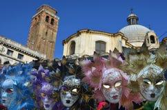 威尼斯狂欢节面具 图库摄影