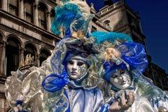 威尼斯狂欢节面具 免版税库存图片