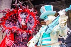 威尼斯狂欢节!威尼斯式面具! 免版税库存照片