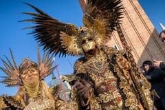 威尼斯狂欢节2018年 免版税库存照片