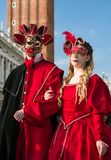 威尼斯狂欢节2018年 免版税库存图片