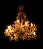威尼斯玻璃器皿枝形吊灯 库存图片