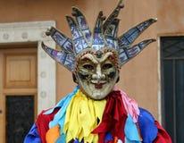 从威尼斯的丑角 免版税库存照片