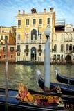 威尼斯的标志-威尼斯式长平底船 免版税库存照片