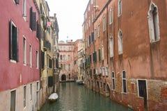 威尼斯的运河  免版税库存图片