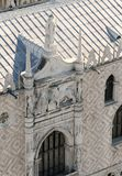 威尼斯的飞过的狮子标志的雕象圣马克广场的 图库摄影