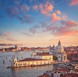 威尼斯盐水湖大教堂圣玛丽亚della致敬鸟景色在 图库摄影