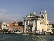 威尼斯看法从船的 库存图片