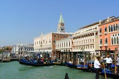 威尼斯瞥见在夏天 库存图片
