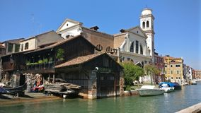 威尼斯秀丽河房子意大利 库存照片