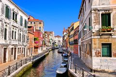 威尼斯美丽如画的运河  库存照片
