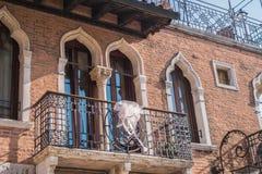威尼斯美丽的浪漫土地  库存照片