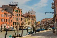 威尼斯美丽的运河  免版税库存图片