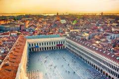 威尼斯美好的全景鸟瞰图  免版税库存图片