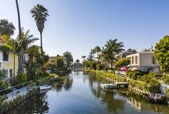 威尼斯老运河在加利福尼亚,美好的生活范围 免版税库存照片