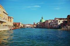 威尼斯视图从水的 免版税库存照片