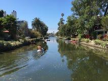 威尼斯运河历史的区在洛杉矶 库存图片