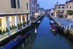 威尼斯运河在黎明 库存图片