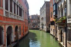 威尼斯运河,意大利 免版税图库摄影