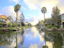 威尼斯运河,洛杉矶,加利福尼亚 免版税库存照片