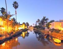 威尼斯运河,洛杉矶,加利福尼亚 免版税图库摄影