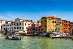 威尼斯都市风景、水运河和传统建筑 意大利,欧洲 免版税图库摄影