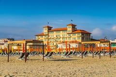 威尼斯都市风景、水运河和传统建筑 意大利,欧洲 免版税库存图片