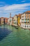 威尼斯都市风景、水运河和传统建筑 意大利,欧洲 免版税库存照片