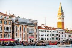 威尼斯都市风景视图 免版税图库摄影