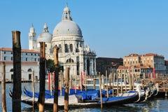 威尼斯都市风景-园地della致敬教会 库存图片