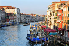 威尼斯都市风景-大运河 免版税图库摄影