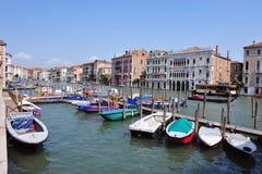 威尼斯都市风景-大运河 库存图片