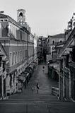 威尼斯都市风景- Rialto市场 库存照片