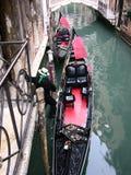 威尼斯长平底船 库存图片