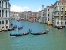 威尼斯长平底船 免版税库存照片