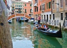 威尼斯长平底船 免版税图库摄影