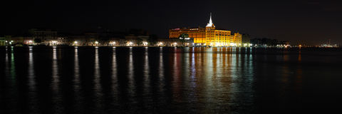 威尼斯长的曝光光在夜之前。 图库摄影