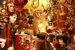 威尼斯面具和玩偶 免版税库存照片