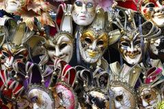 威尼斯面具的博览会  免版税图库摄影