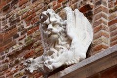 威尼斯飞过了狮子作为妖怪 免版税库存图片