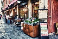 餐馆在威尼斯 免版税库存图片
