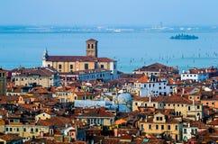 威尼斯鸟瞰图 库存图片