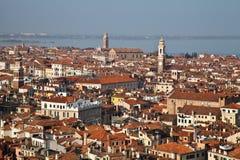 威尼斯鸟瞰图  免版税库存照片