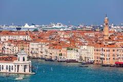 威尼斯鸟瞰图 免版税库存图片