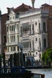 威尼斯,一个宫殿的看法大运河的 免版税库存照片